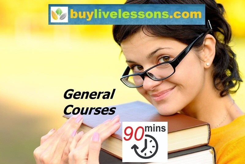 BUY 30 GENERAL LIVE LESSONS FOR 90 MINUTES EACH.