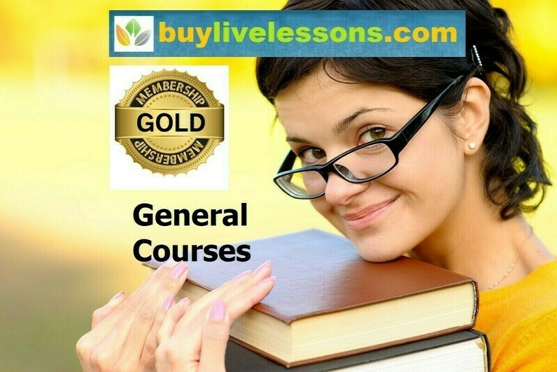 BUY 100 GENERAL LIVE LESSONS FOR 45 MINUTES EACH.
