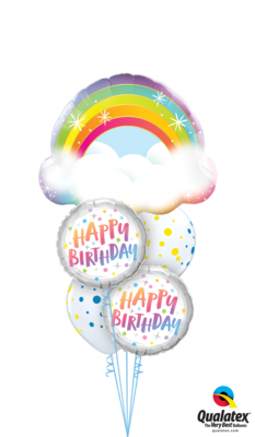 A Magical Day is on the Way! Happy Birthday Balloon Bouquet