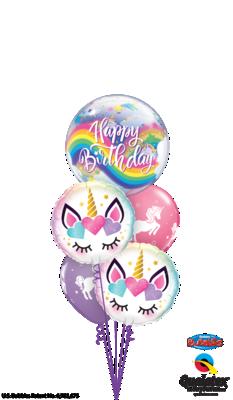 Rainbows Unicorn Happy Birthday Balloon Bouquet