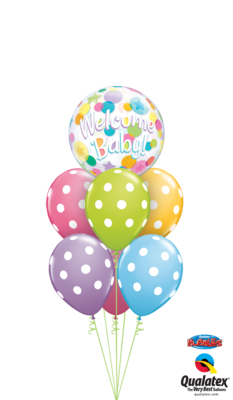 A Colorful Baby Welcome Balloon Bouquet