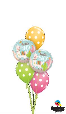 Baby Llama Polka Dots Balloon Bouquet