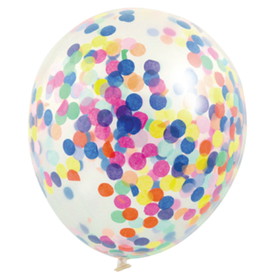30 cm Confetti Helium Balloon Multi Colour Pack of 3