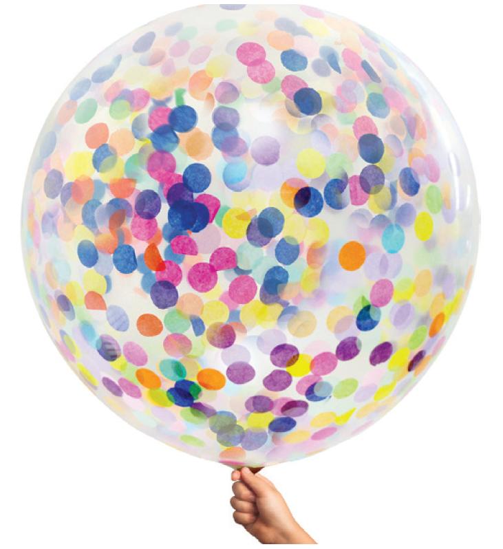 90 cm Confetti Helium Balloon Multi Color