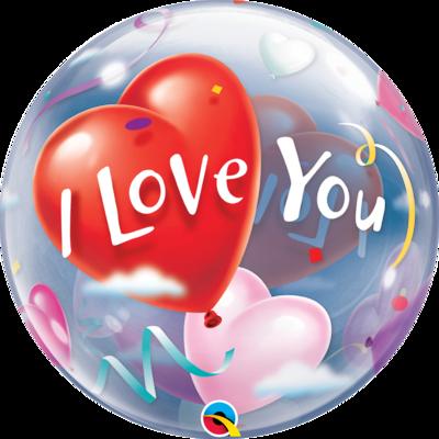 I Love You Heart Bubble Balloon