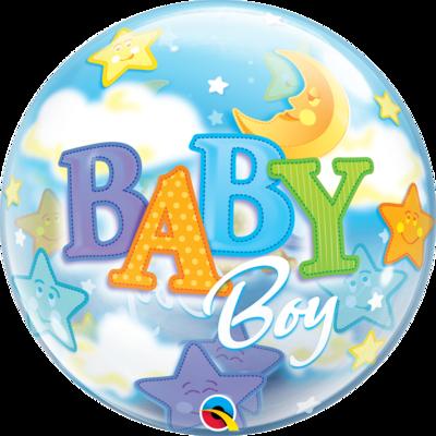 Baby Boy Moon & Starts Bubble Balloon