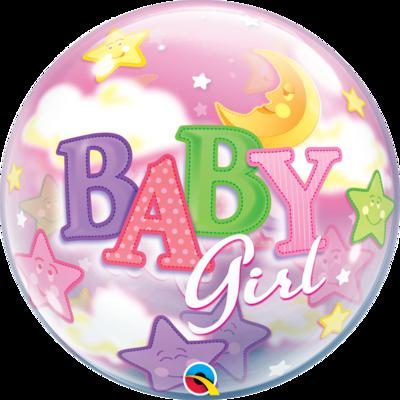 Baby Girl Moon & Starts Bubble Balloon