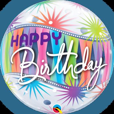Birthday Sorbet Starblast Bubble Balloon