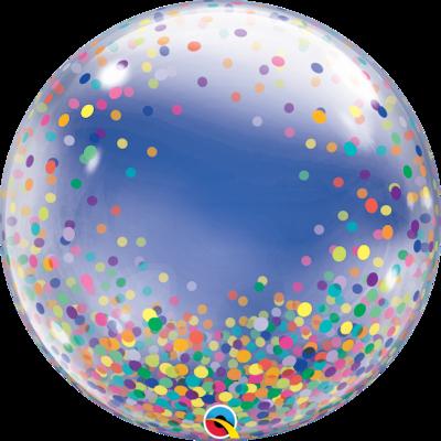 Colorful Confetti Dots Bubble Balloon