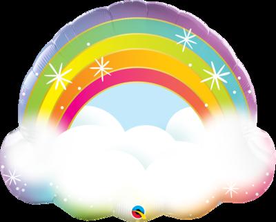 Qualatex Supershape Foil Balloon Rainbow 32''