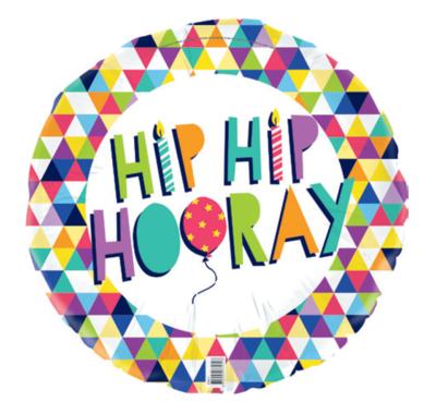 Hip Hip Hooray Foil Balloon 45 cm