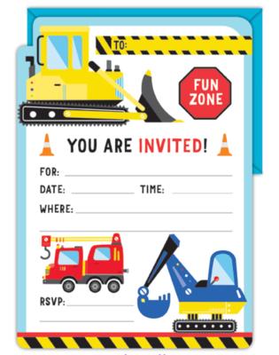 16pk Invitation & Envelope Set Constructoin