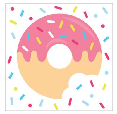 20pk Donuts Napkins