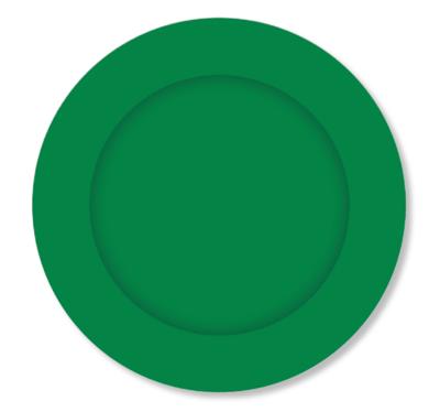 8pk Green Paper Plates 23 cm