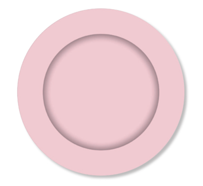 8pk Pink Paper Plates 23 cm