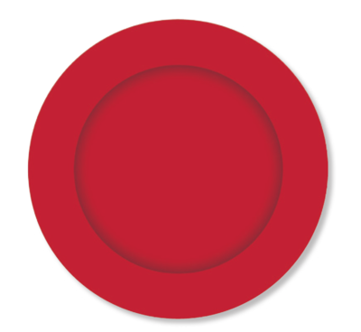 8pk Red Paper Plates 23 cm