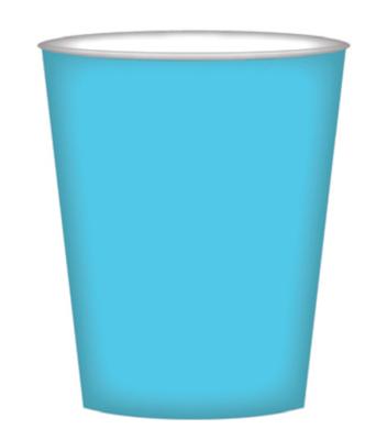 8pk Island Blue Paper Cups