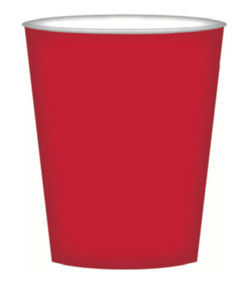 8pk Red Paper Cups