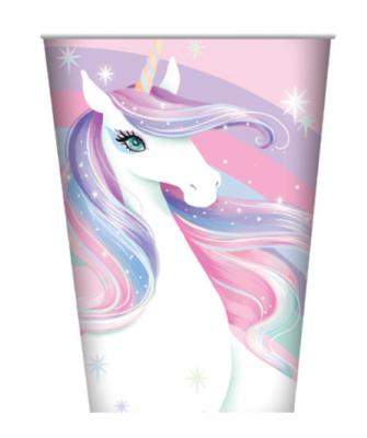 8pk Unicorn Paper Cups