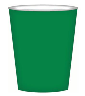 8pk Green Paper Cups