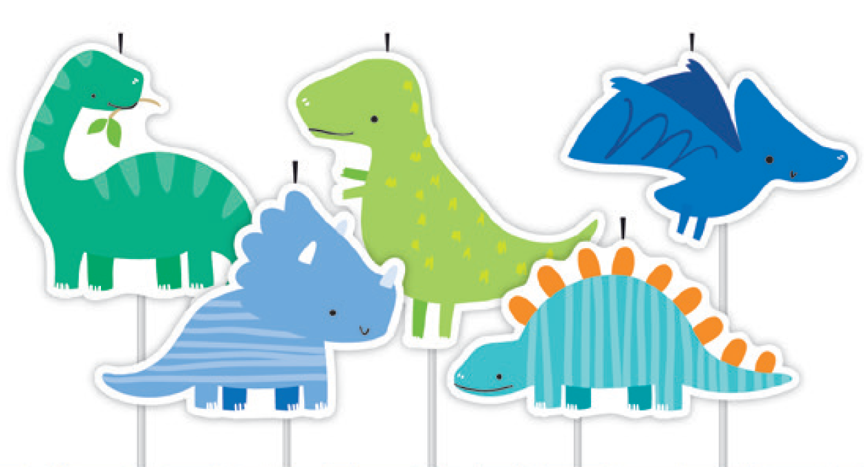 5 Pick Dinosaurs Cake Birthday Candles
