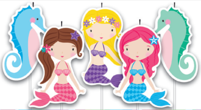 5 Pick Mermaids Cake Birthday Candles