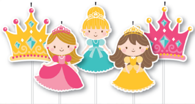 5 Pick Princess Cake Birthday Candles