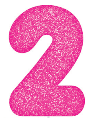 Pink Glitter Number Cake Birthday Candles 2