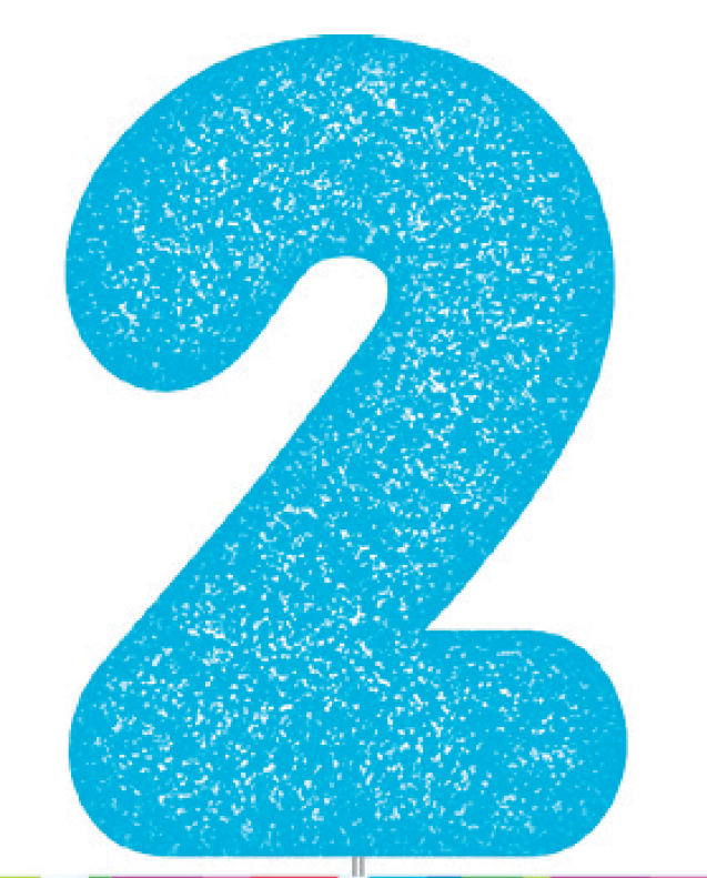Blue Glitter Number Cake Birthday Candles 2