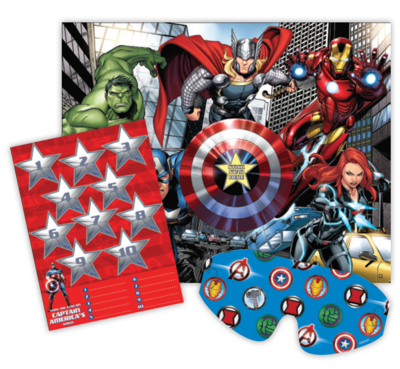 Avengers Party Game Stick the Star on the Shield