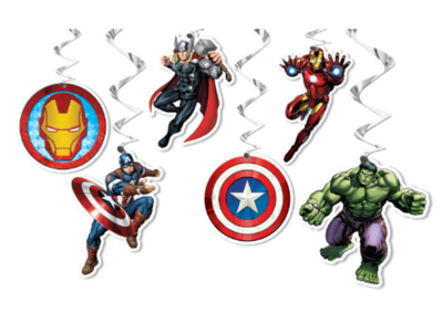 6 pk Avengers Hanging Decorations