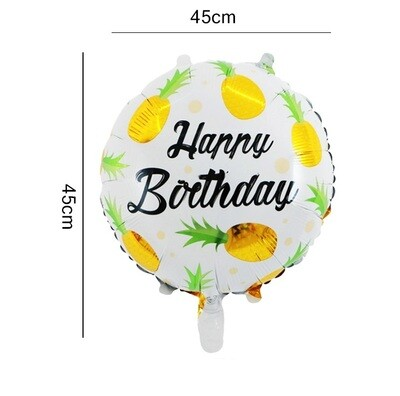 Hawaii Party Theme Happy Birthday Pineapple Foil Balloon
