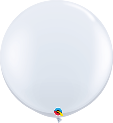 36 inch/90 cm Standard White Latex Balloon