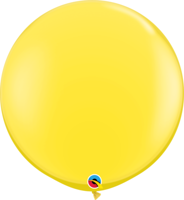 36 inch/90 cm Standard Yellow Latex Balloon