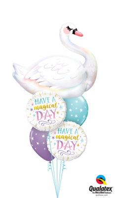 Majestic and Magical Graceful Swan Balloon Bouquet