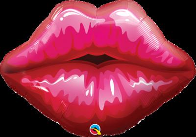 Qualatex Supershape Foil Balloon Big Red Kissy Lips 30''