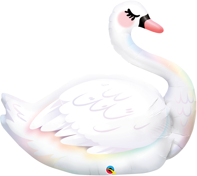 Qualatex Supershape Foil Balloon Graceful Swan 35''