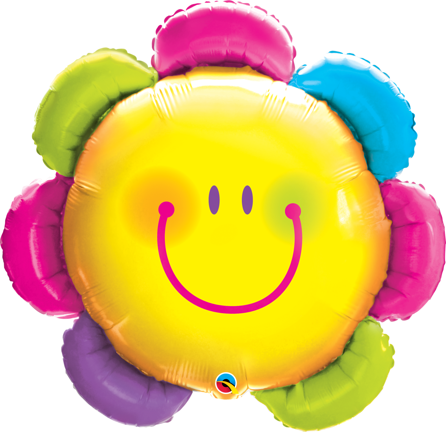Qualatex Supershape Foil Balloon Funny Face Flower 32''