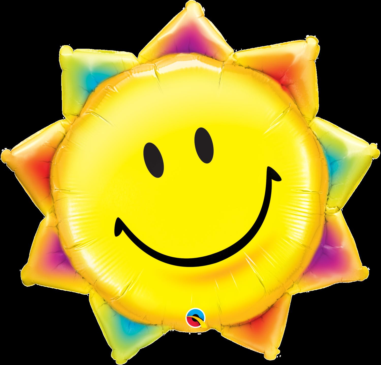 Qualatex Supershape Foil Balloon Sunshine Smile Face 35''
