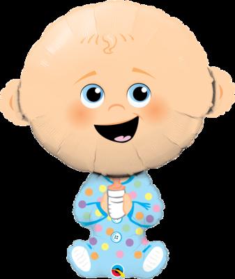 Qualatex Supershape Foil Balloon Baby Boy 38''