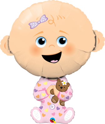 Qualatex Supershape Foil Balloon Baby Girl 38''