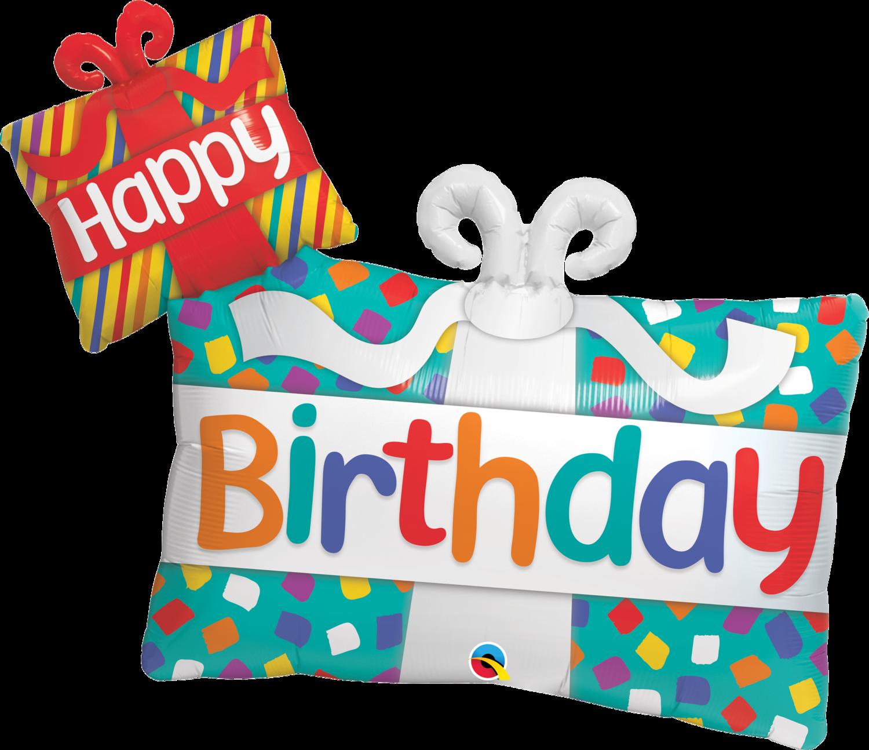 Qualatex Supershape Foil Balloon Happy Birthday Presents 39''