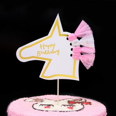 Cake Topper Unicorn Happy Birthday