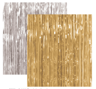 Foil Curtain Backdrop Gold or Silver