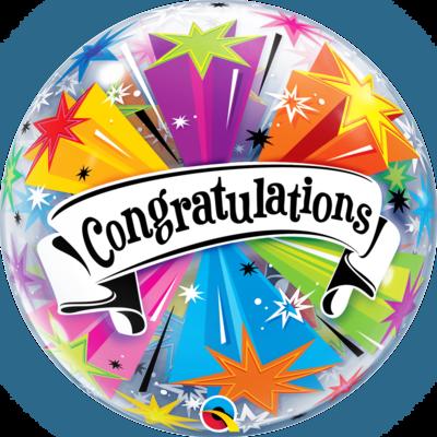 Congratulations Banner Blast Bubble Balloon