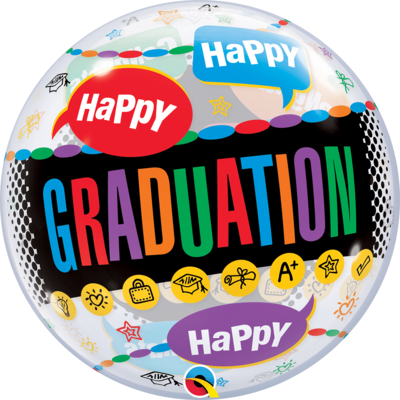 Happy Graduation - Congrats Grad Bubble Balloon