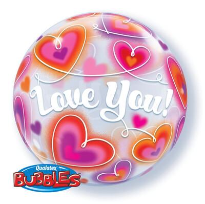 Love You Bubble Balloon
