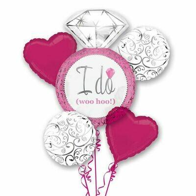 Pink Wedding Balloon Bouquet