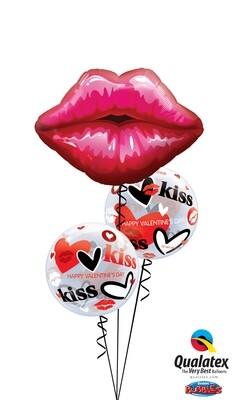 Kissey Valentine's Day Lips Balloon Bouquet