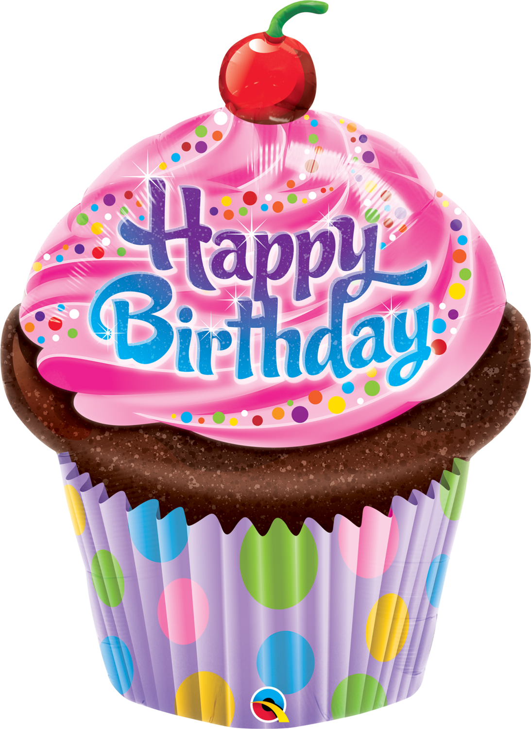 Qualatex Supershape Foil Balloon Birthday Frosted Cupcake 35''